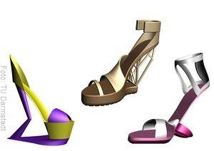High Heels auf denen Frauen nicht umknicken