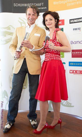 Katharina Sternberger und Christian Rainer sind Botschafter des guten Schuhgeschmacks