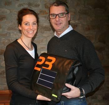 Erfinder der Solartaschen und Firmengründer von stromwerk: Martina Schuler-Zölzer und Rudolf Schuler