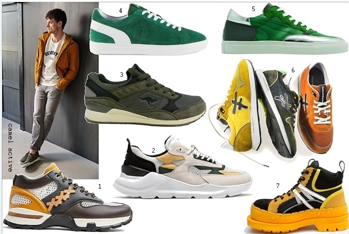 d7d01dffc0 Herren Sneaker Trends 2019: starke Farben und klobige Sohlen 1 Zegna / 2  D.A.T.E./ 3 Kangaroos / 4 Bogner / 5 nat 2 / 6 Floris van Bommel / 7 Art x  ...