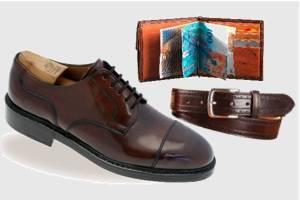 Schuhe aus Pferdeleder und Accessoires aus Pferdeleder von Heinrich Dinkelacker