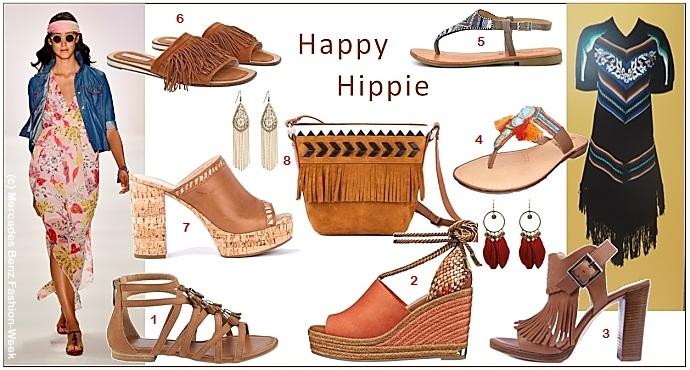 Folklore Look: Schuhe mit Fransen, Perlen und Stickereien