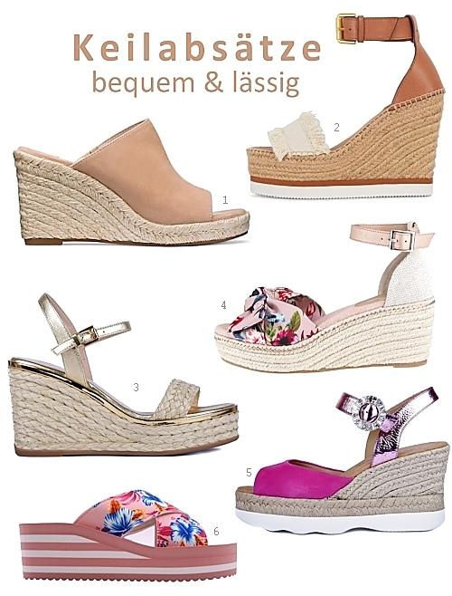 Wedges: Sommer Schuhe mit Keilabsatz > Die Welt der Schuhe