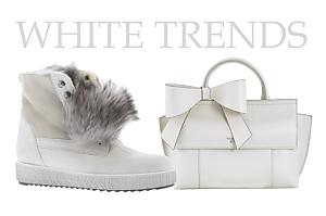 [title] - Weiß und Creme-Töne für den Winter kommen nie aus der Mode. Auch Stiefel, Boots und Sneaker strahlen wieder mit dem Schnee um die Wette.