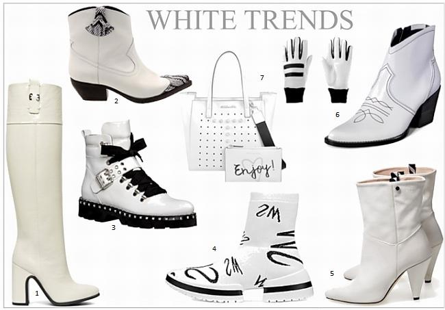 Schuhmode: das Comeback der weißen Stiefeletten