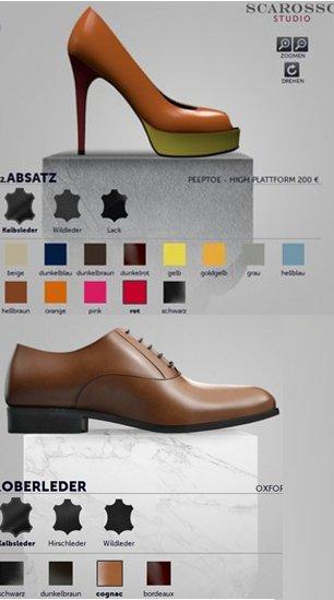 Damenschuhe und Herrenschuhe selber gestalten. Handgefertigte Schuhe aus Italien selber gestalten oder online kaufen
