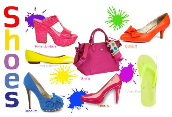 Schuhe in Knallfarben