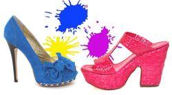 Schuhe in knalligen Farben
