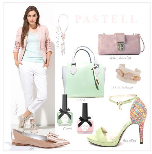 Schuhe und Accessoires in Pastell: Bonbonfarben und zarte Sorbet-Töne sind angesagt