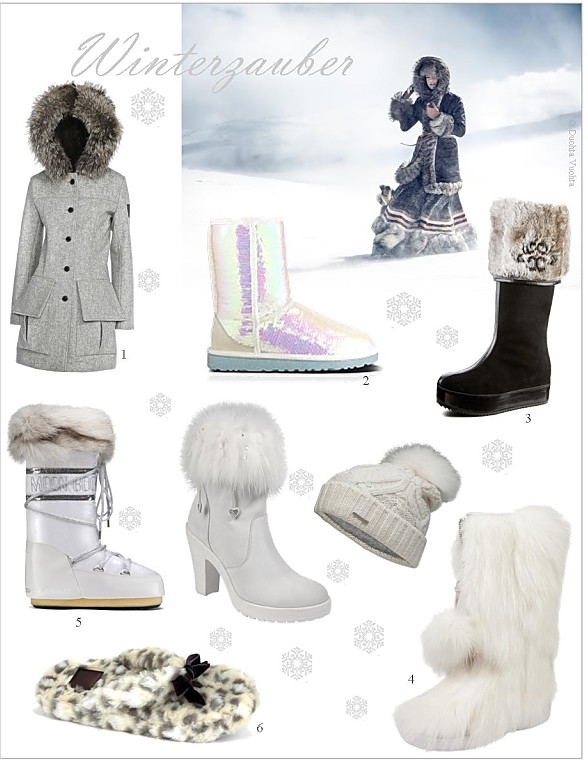 Winterstiefel, Fellstiefel, Moonboots, Schneestiefel, Outfits Schnee-Outfits