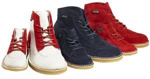Kickers Legend Boots in Rot Blau und im Marine-Look