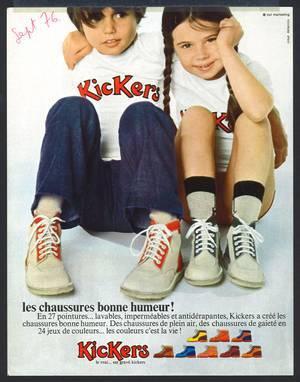 Kickers Werbeplakat 1976