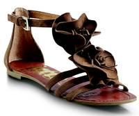 Jette Sandalen mit Blumendekor in Braun