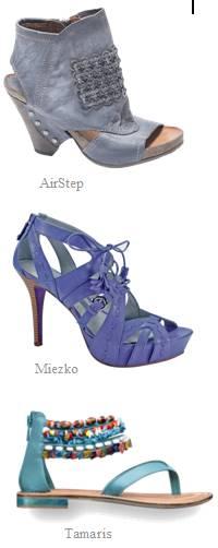 Trendfarbe Blau, verwaschene helle Blautöne, kräfigte Blautöne, Azur bis hin zu Türkis wird im Sommer 2011 getragen
