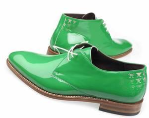 Grüne Lackschuhe für Herren von Floris van Bommel