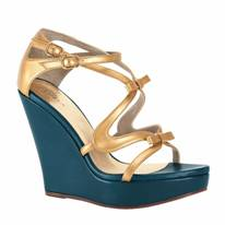 Wedges in Gold von Furla