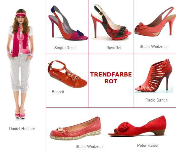 Rote Schuhe setzten im Sommer 2010 Akzente. Rote Schuhe sind in vielfältigen Ausführungen zu bekommen. Von High-Heels bis super-flach sind Rote Schuhe zu finden