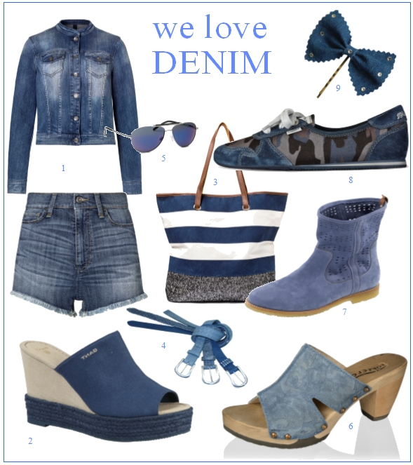 we love denim mode schuhe und accessoires im jeans look. Black Bedroom Furniture Sets. Home Design Ideas