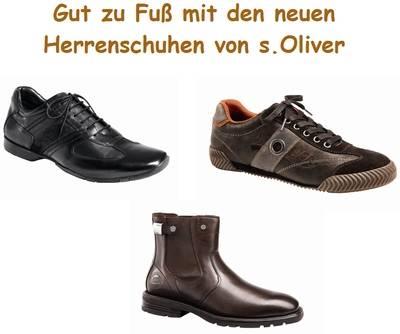 Gut zu Fúß mit sOliver Herrenschuhe Herbst-Winter 2009/2010