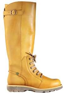 Gelbe Stiefel von El Natura Lista bringen Licht in den grauen Winter-Alltag