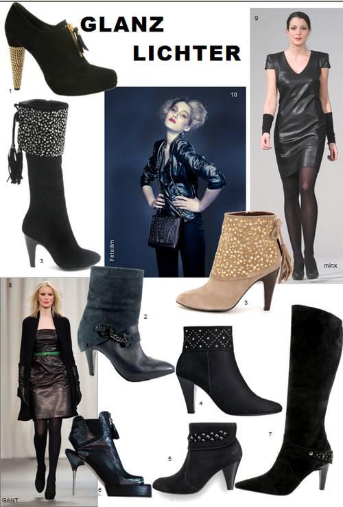 Schuhe und Stiefel mit Nieten, Studs, Zippern, Ketten, Pailetten funkeln um die Wette und sorgen für den nötigen Glam-Rock