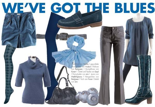 Trendfarbe Blau, Blaue Schuhe, Blaue Stiefel, Blaue Mode, Blaue Accessoires im Herbst-Winter 2010_2011 wird´s Blau