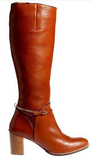 Trendfarbe Cognac  Stiefel von Högl. Hochprozentiges steht in der Schuhmode  im Herbst-Winter 2012 ... 652936a01d