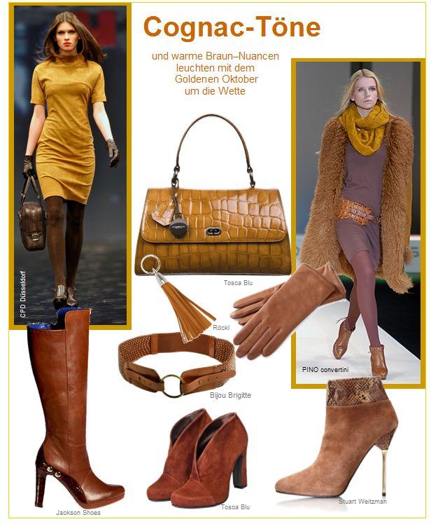 Schuhe und Stiefel in Cognac-Tönen und warmen Braun-Nuancen leuchten mit dem Goldenen Oktober um die Wette