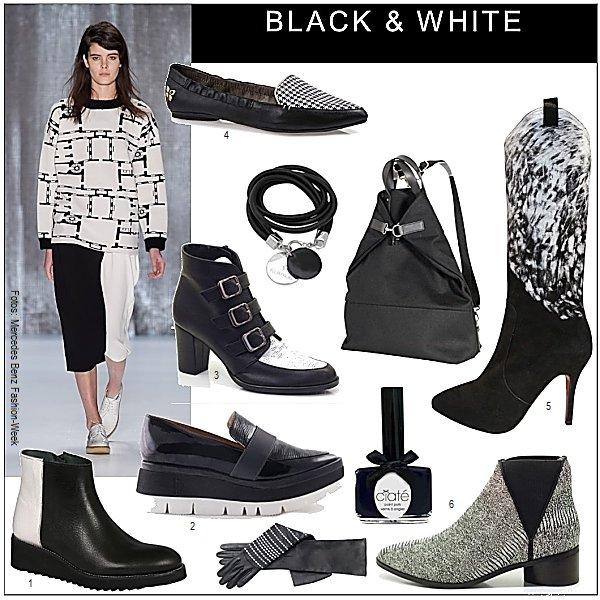 trend schuhe und stiefel in schwarz weiss die welt der. Black Bedroom Furniture Sets. Home Design Ideas