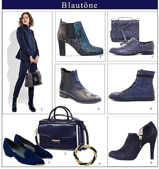blaue schuhe und stiefel die trends im herbst und winter die welt der schuhe. Black Bedroom Furniture Sets. Home Design Ideas